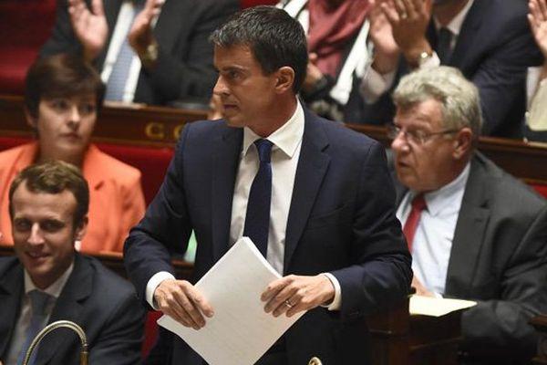 Manuel Valls ce mardi 16 septembre 2014 à l'Assemblé nationale