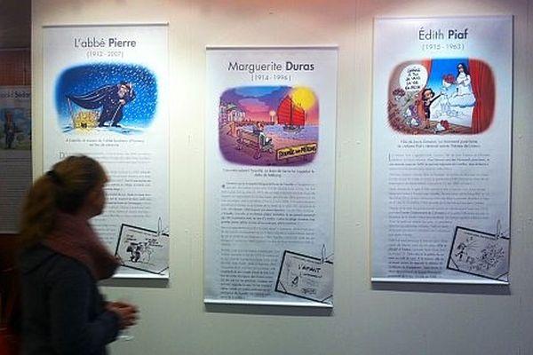 """L'exposition """"Illustres Normands"""" à l'hôtel de Région à Rouen"""