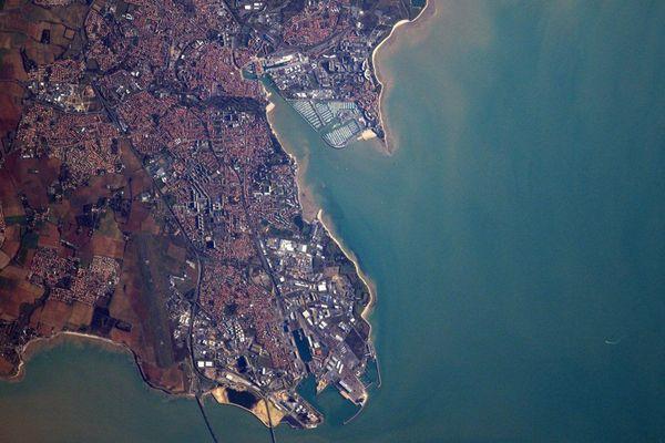 La Rochelle vue de l'ISS par Thomas Pesquet