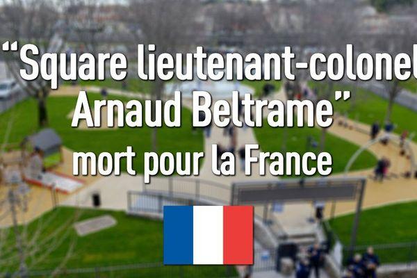 Alès (Gard) - le tweet de la mairie : un square en hommage au lieutenant-colonel Beltrame