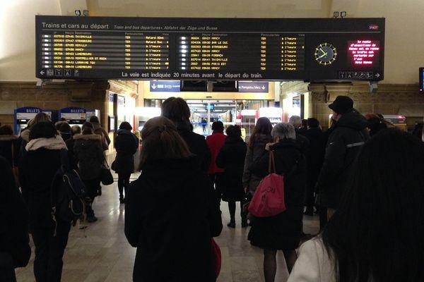 Des répercussions sur tout le sillon lorrain. Ici en gare de Metz.
