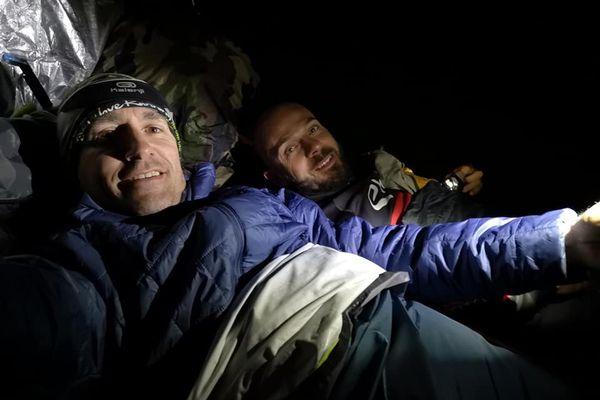 Régis Descamps et Sylvain Sannier dormirons à la belle étoile.