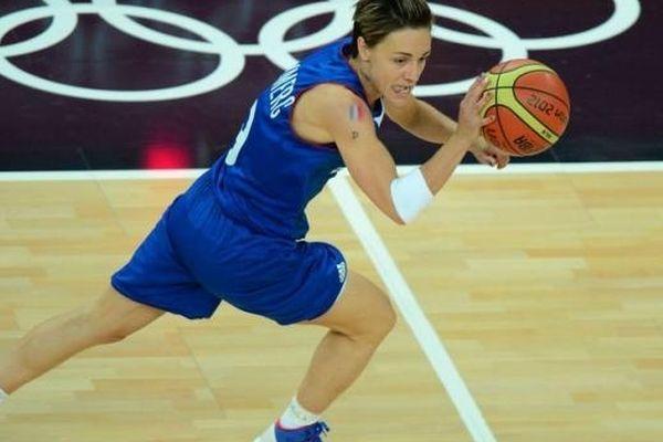 Céline Dumerc, capitaine de l'équipe de France féminine de basket, le 11 août 2012 à Londres