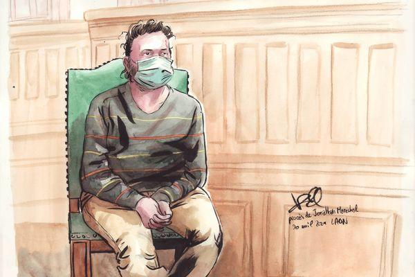 Jonathan Maréchal lors de son procès devant la cour d'assises de Laon.