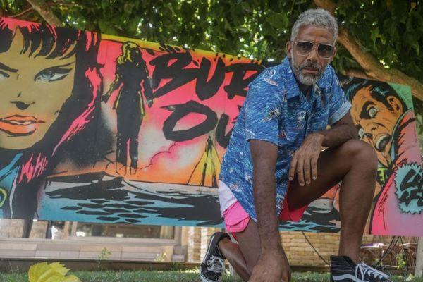 C'est à Porto-Vecchio que l'artiste de Pop Art Ramzy Adek a posé ses valises, chez son mécène, pendant une semaine.