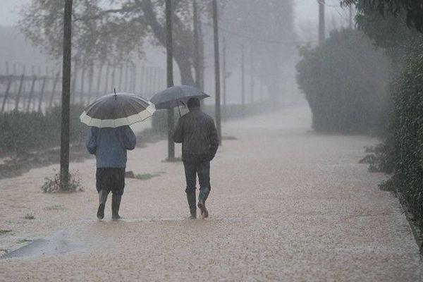 La pluie va se calmer lundi