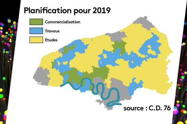 Les zones d'ores et déjà connectées, en travaux et à l'étude