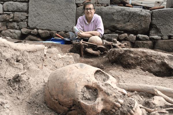 11e campagne de fouilles sur le site de l'ancienne église de Saint-Hilaire à Moutier-Rozeille (23)
