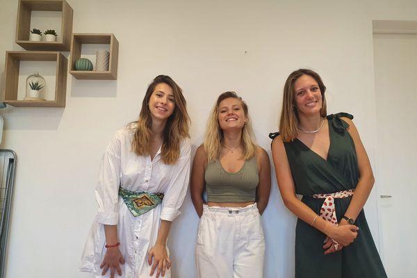 Toulouse - Léa Maravelle, Marie Varin, Victoria Pagès souhaitent faire breveter leur projet Croc Fork. Juillet 2021.