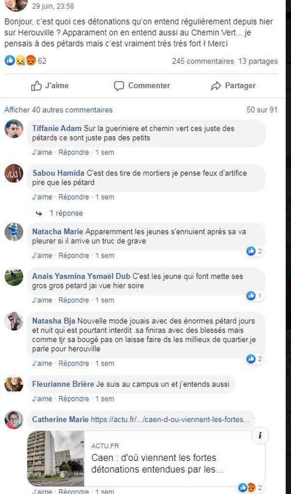 Sur le groupe de discussion Vivre à Caen, les témoignages se comptent par dizaines