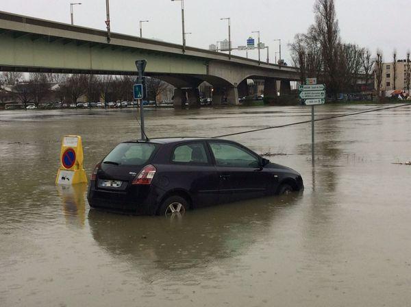 La Seine à Rouen le mercredi 31 janvier 2018