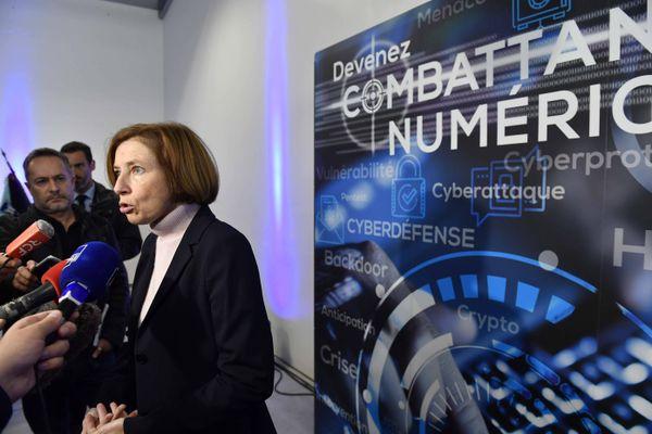 Florence Parly, ministre de la Défense inaugure le bâtiment Commandant Roger Baudouin