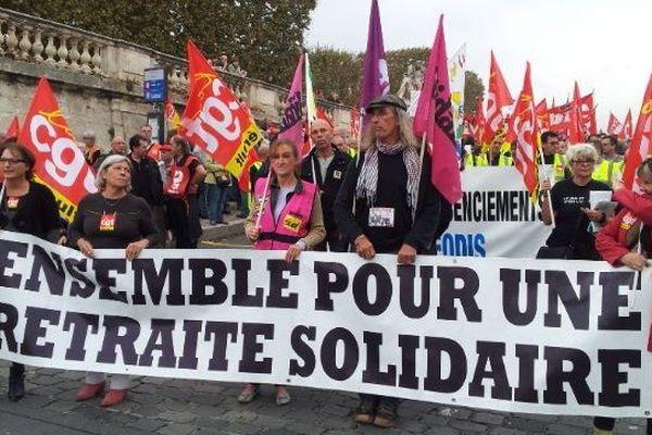 Une manifestation montpelliéraine à l'appel de FO, de la CGT, de SUD et de Solidaires