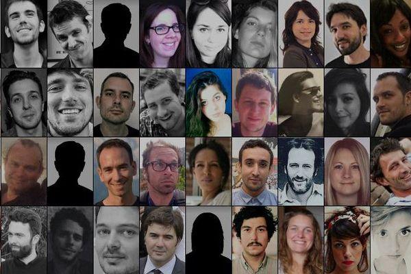 Portraits de victimes des attentats du 13 novembre à Paris et Saint-Denis.