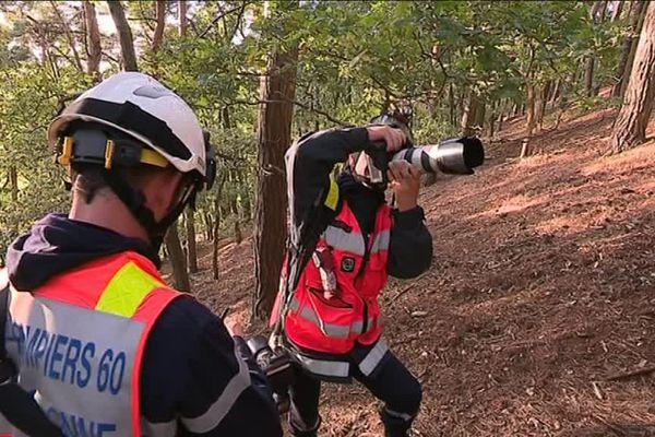 Le service communication du SDIS de l'Oise suit les pompiers dans leurs interventions.