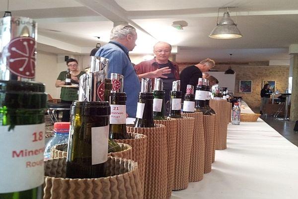 Quarante (Hérault) - 60 journalistes venus du monde entier dégustent les vins de la région - 17 avril 2013.