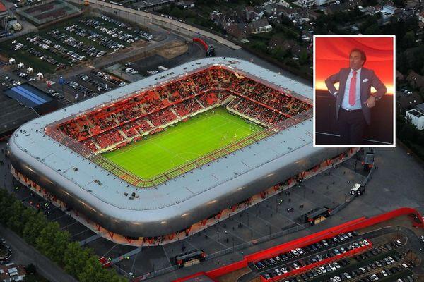 Le Stade du Hainaut et le VAFC suscitent des convoitises. En médaillon, Paul Tavares