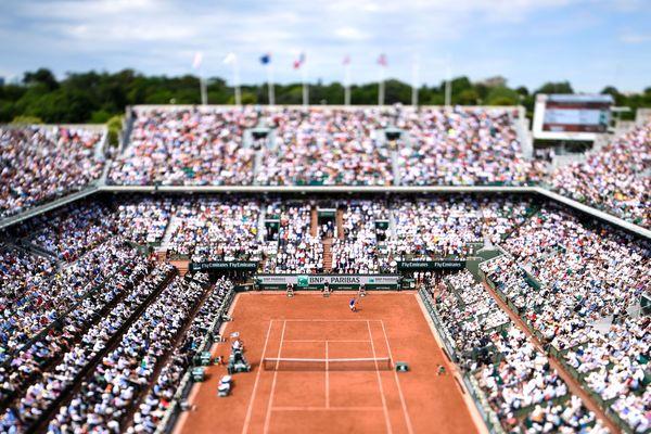 Le Court Central, à Roland-Garros.