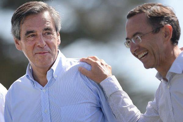 François Fillon et Bruno Retailleau à l'université d'été des Républicains le 3 septembre 2016