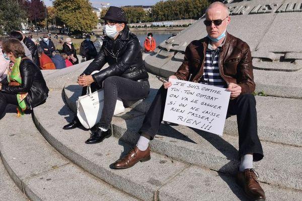 C'était le 18 octobre, la manifestation devant la préfecture de Nantes en hommage à Samuel Paty