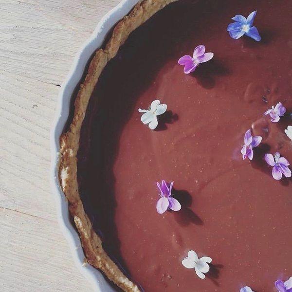 La tarte fondante ganache chocolat-menthe de Juliette - La Cabane à Plantes