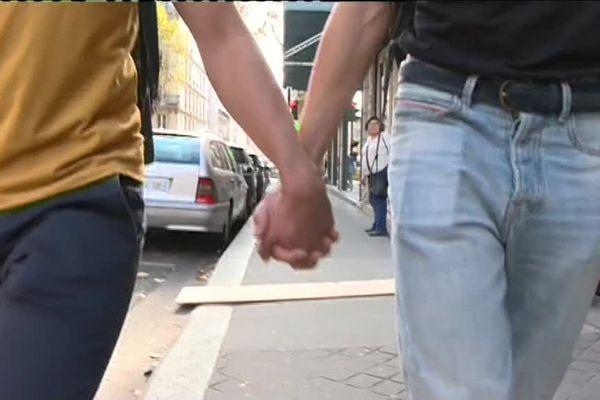 Une agression homophobe dans le 20ème arrondissement de Paris, le 18 septembre 2018.