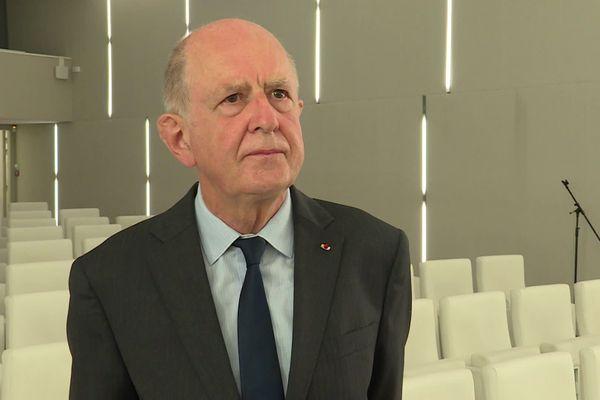 Le président de la CIASE, Jean-Marc Sauvé était à Rouen le 15 septembre 2020 lors d'une étape du tour de France de la commission
