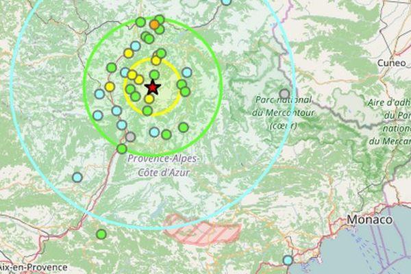 Plusieurs séismes ont été ressentis dans la région de Digne dont un d'une intensité de 4,1. Il n'y a aucun dégât.