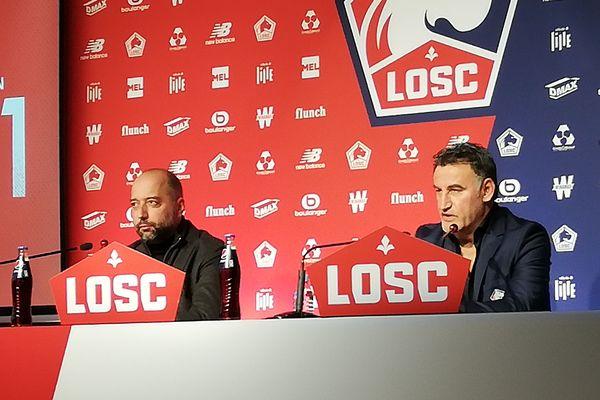 Gérard Lopez et Christophe Galtier ce mercredi 16 janvier 2018