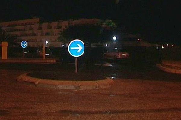 Cap d'Agde (Hérault) - le lieu où s'est produit l'agression des 2 policiers sur l'Avenue de la Joliette - 18 janvier 2014.