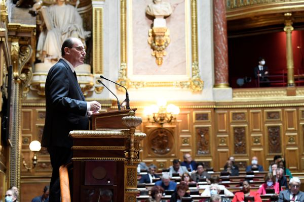 Le Premier Ministre, Jean Castex, lors de sa déclaration de politique générale à l'Assemblée Nationale, mercredi 15 juillet.