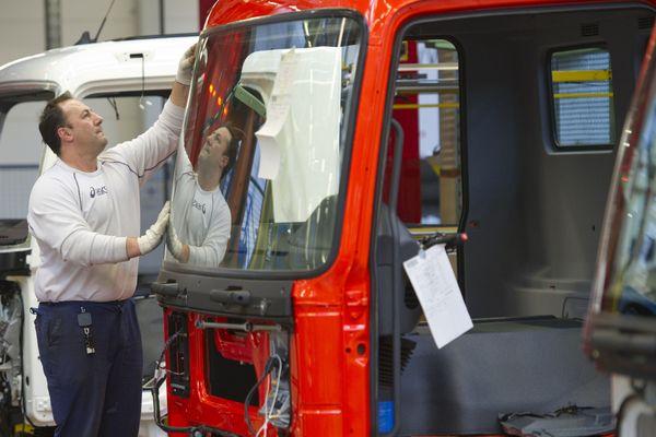 Ligne de montage à l'usine Daimler de Wörth
