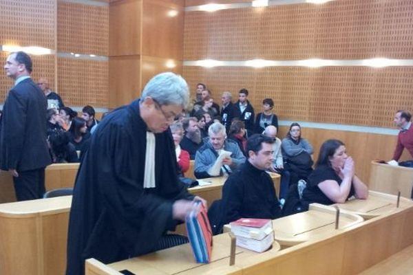 Maitre Phung, avocat des parents de Charlotte Landais, dans la salle d'audience du tribunal correctionnel de Montpellier