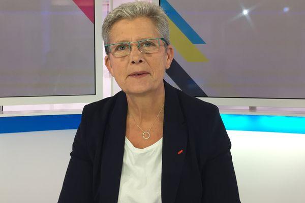 Geneviève Darrieussecq, secrétaire d'Etat aux Armées depuis juin 2017. Elle est l'invitée de #DIMPOL dimanche 1er octobre