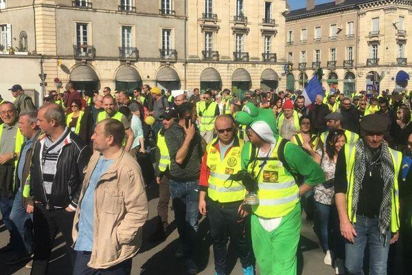 Des gilets jaunes à Dijon, le samedi 23 mars 2019