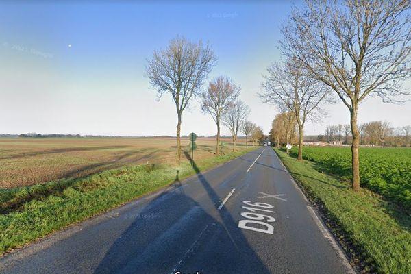 C'est sur la D 916 à hauteur de la commune de Bouquemaison dans la Somme que la jeune femme de 23 ans, originaire de Frévet dans le Pas-de-Calais, a été renversée volontairement le mardi 14 septembre 2021 par la femme de son compagnon.