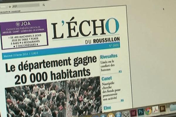 Perpignan - Le nouveau quotidien L'écho du Roussillon paraîtra du lundi au samedi.