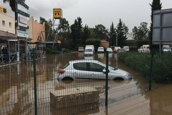 Inondation à Roquebrune sur Argens ce lundi.