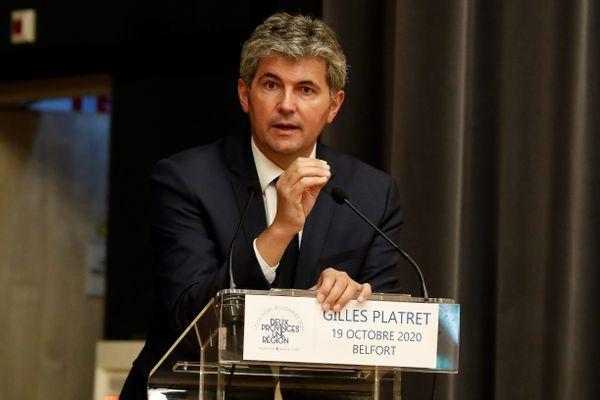 Gilles Platret, en octobre 2020 à Belfort.