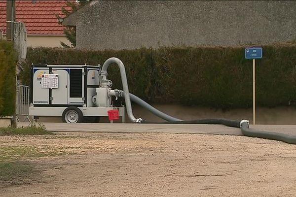 La commune de Champdôtre a investi dans une pompe pour lutter contre les crues de la rivière la Tille