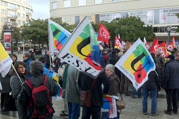 Manifestation contre la réforme des retraites, Caen, 26 novembre 2013