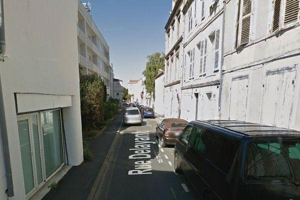 Une partie de la rue Delayant à La Rochelle