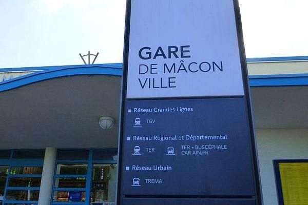 La gare de Mâcon en Saône-et-Loire