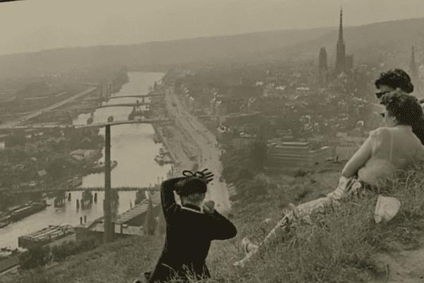 Vue de Rouen par Henri Cartier Bresson