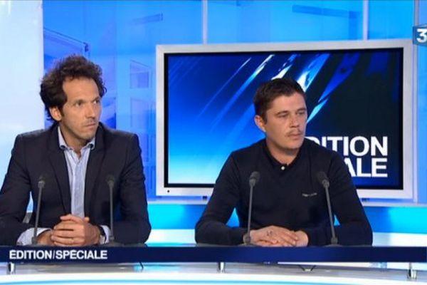 Daniel Legrand (à droite) et son avocat Me Julien Delarue.