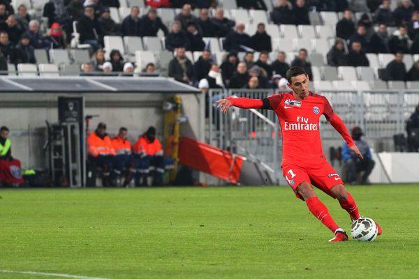 Le Parisien Angel DiMaria, auteur d'un but face à Bordeaux, lors de la demi-finale en coupe de la Ligue.
