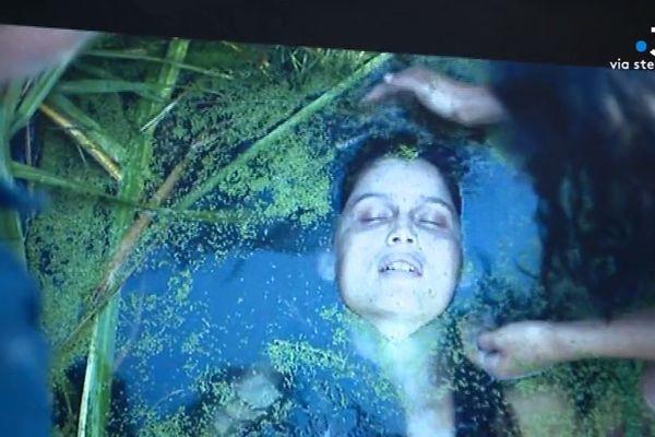 """Sur le tournage de la série """"Une île"""", de Julien Trousselier avec Laetitia Casta."""