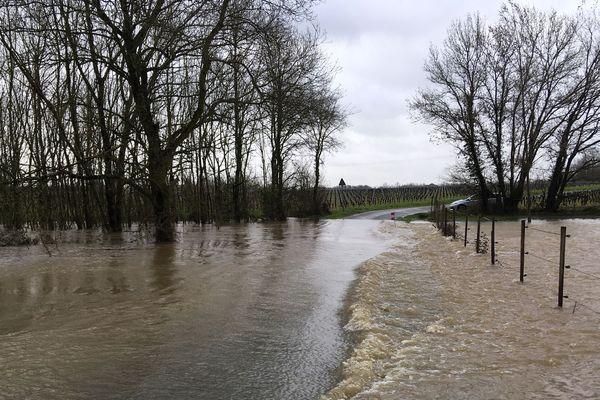 Inondations au Landreau, en Loire-Atlantique, 5 mars 2020