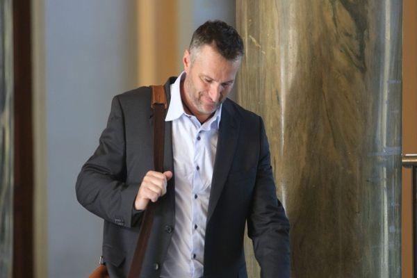 ARCHIVES - Jean-Philippe Decoux lors de son procès au palais de justice de Bastia en octobre 2015