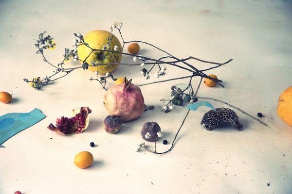 """La Galerie Bertrand Gillig propose d'accrocher chez vous cette oeuvre d'Ayline Olukman intitulée """"Grenade""""."""